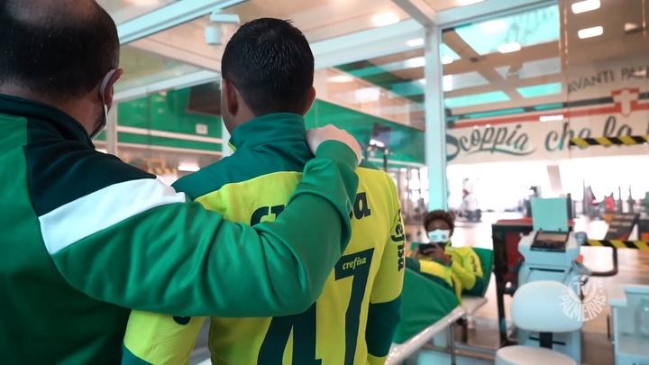 Dudu reencontra companheiros do Palmeiras e segue rotina de treinos. DUGOUT