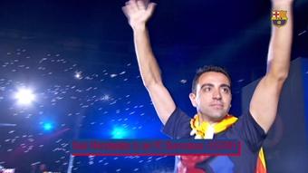 Xavi was a Barca idol. DUGOUT