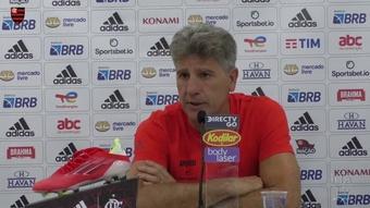 Renato Gaúcho e a pouca quantidade de chutes no time do Flamengo. DUGOUT