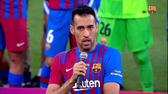 Busquets faz agradecimento a Messi. DUGOUT