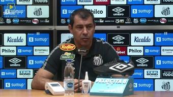 Carille analisa derrota em eliminação do Santos na Copa do Brasil. DUGOUT