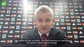 Ole Gunnar Solskjaer reflected on a defeat against Aston Villa. DUGOUT