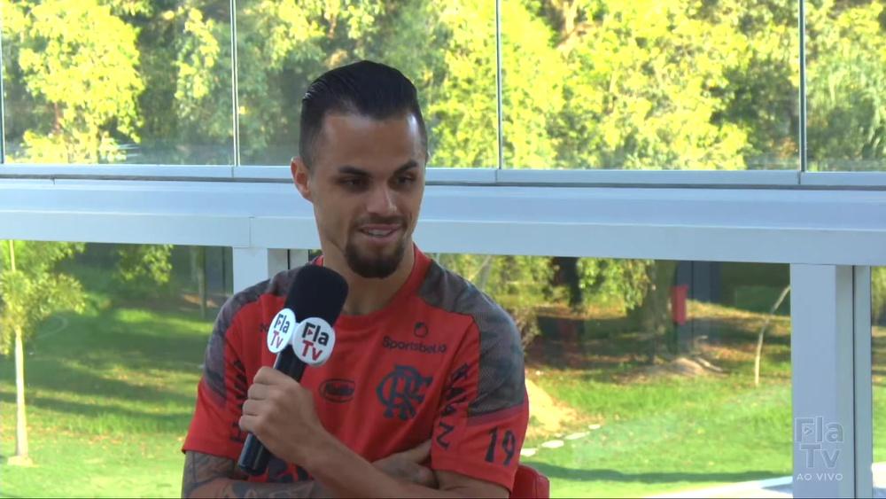 Michael comenta lances dos gols que marcou contra o Palmeiras. DUGOUT