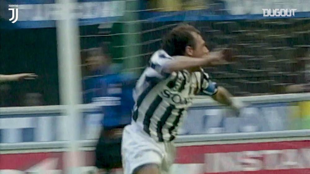 La rete di Conte contro l'Inter. Dugout