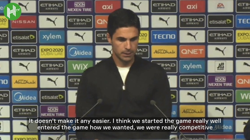 Mikel Arteta lamented his team's mistakes after being hit for five by Man City. DUGOUT