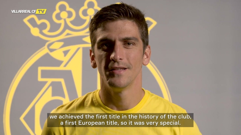 Gerard Moreno was delighted to be voted Europa League player of the season. DUGOUT