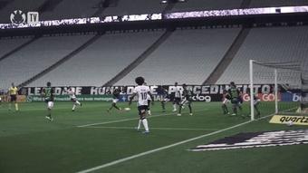 Veja o gol de Giuliano no empate do Corinthians com o América-MG. DUGOUT