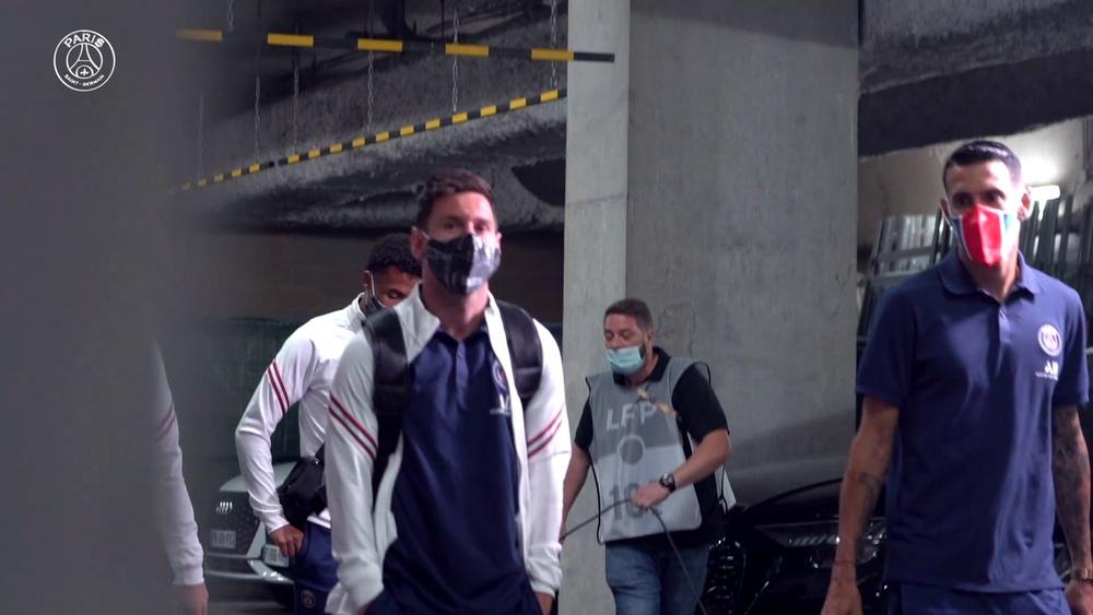 La prima partita di Messi con il PSG. Dugout
