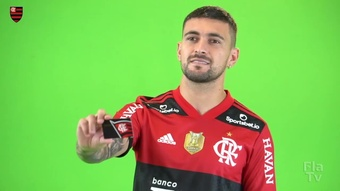 David Luiz, Arrascaeta e Kenedy realizam Media Day no Flamengo. DUGOUT