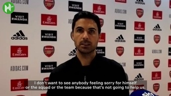 Arteta called on his squad not to give up. Dugout