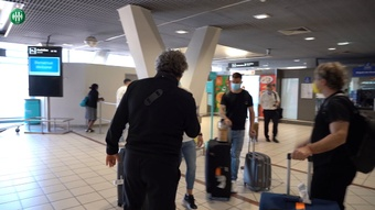 L'arrivée d'Ignacio Ramirez à Saint-Etienne. dugout