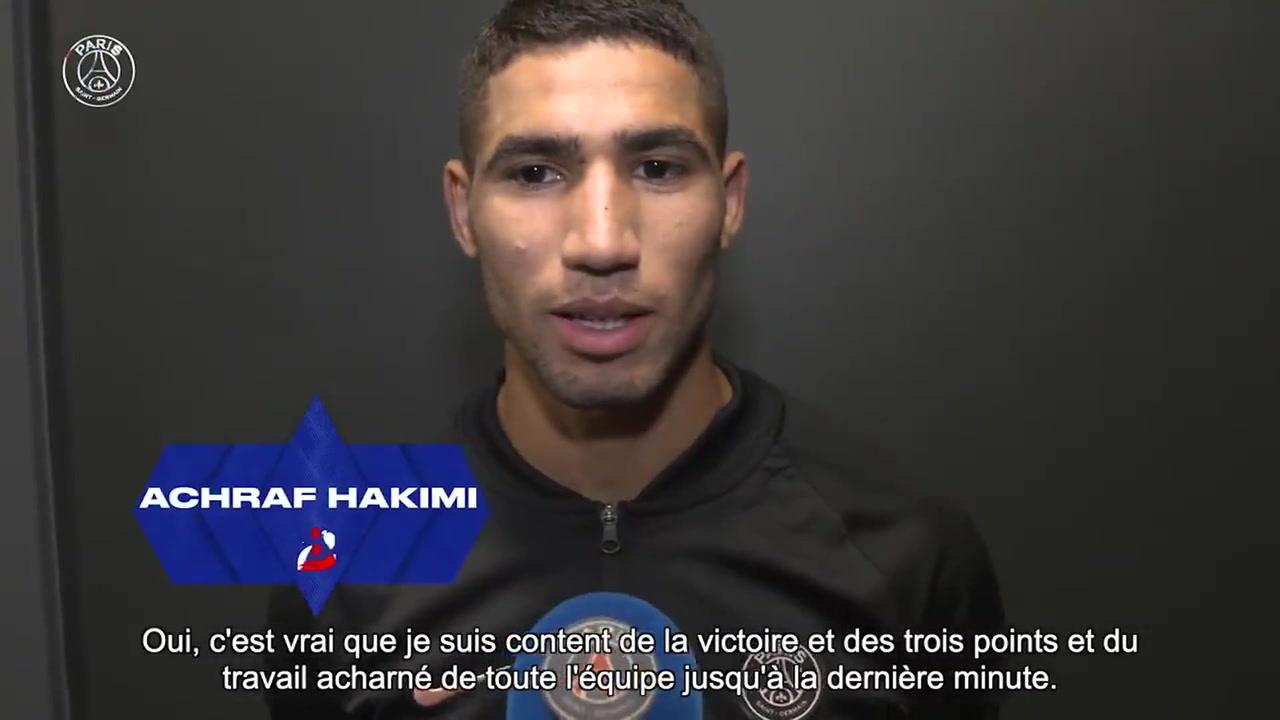 VIDEO : Achraf Hakimi parle de son doublé contre Metz