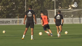 Real Madrid have been preparing for the match with Mallorca. DUGOUT