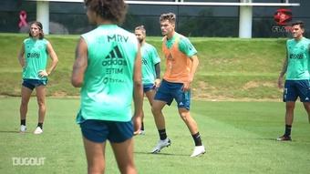 Flamengo's last training session before Sport Recife clash. DUGOUT