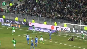 L'égalisation tardive de Brandao contre Marseille. dugout