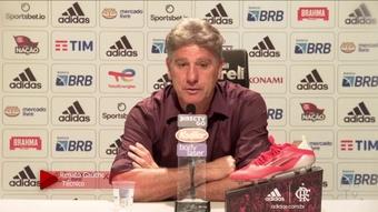Técnico do Flamengo falou após derrota para o Grêmio por 1 a 0. DUGOUT