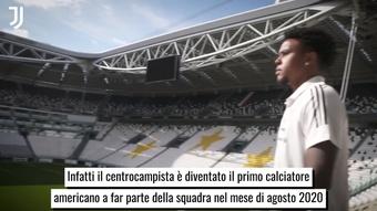 Weston McKennie e il suo esordio nella Juventus. Dugout