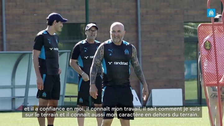 La première interview de Luan Peres à Marseille. dugout
