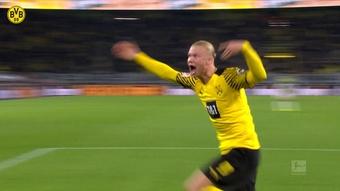 Haaland enloqueció tras anotar el gol de la victoria. Dugout