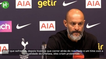 Nuno comenta derrota do Tottenham.