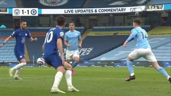 Résumé Manchester City 1-2 Chelsea. dugout