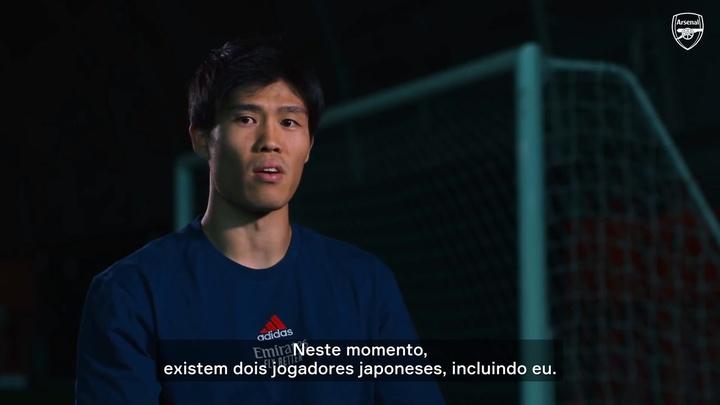 Tomiyasu exalta chegada ao Arsenal.