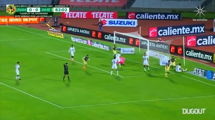 Club América beat Pumas 1-0 on Monday thanks to Martin's goal. DUGOUT