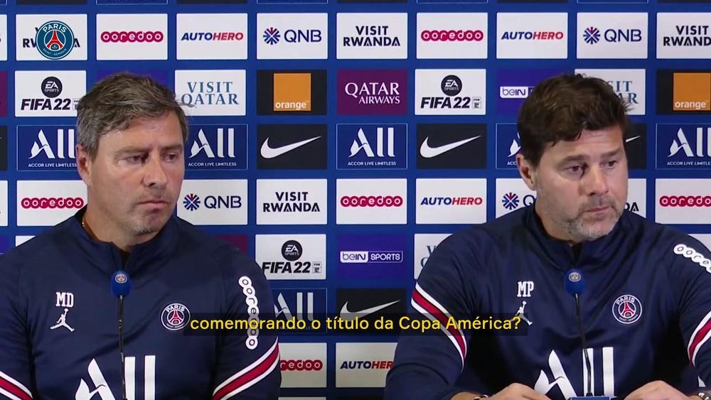 Pochettino falou sobre o título da Copa América. DUGOUT