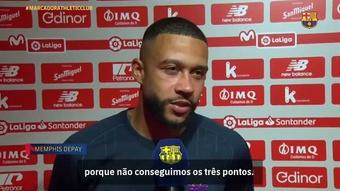 Depay exalta gol, mas se diz decepcionado com tropeço do Barça. DUGOUT
