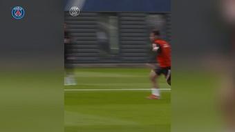 Messi, Neymar et Di Maria s'entrainent ensemble. Dugout