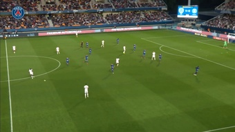 Achraf Hakimi scored as PSG defeated Troyes in Ligue 1. DUGOUT