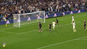 Jack Harrison scored twice as Leeds defeated Crewe 3-0. DUGOUT