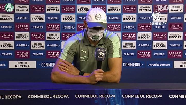Goleiro Weverton concedeu entrevista após derrota nos pênaltis. DUGOUT