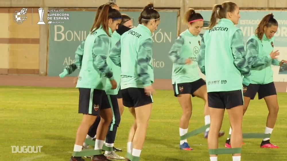 VÍDEO: Levante y Atlético se ponen a tono para la Supercopa Femenina. DUGOUT