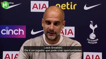 Guardiola elogia Grealish após estreia no City. DUGOUT