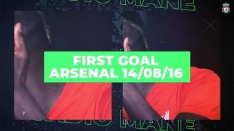 Mané chega aos 100 gols pelo Liverpool.