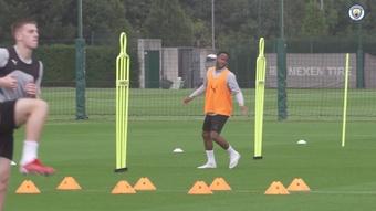 Manchester City prépare le match de Southampton. dugout