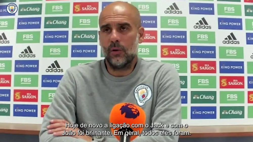 Guardiola enaltece time em vitória sofrida contra o Leicester. DUGOUT
