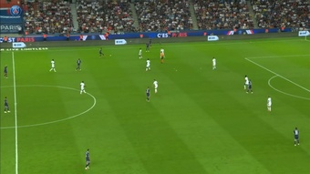 Kylian Mbappe's brilliant run set up Sarabia to seal the points for PSG. DUGOUT