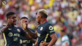 Roger Martinez scored the only goal as Club America won v Santos Laguna. DUGOUT
