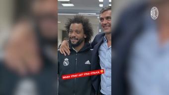 Marcelo, un fan más cuando se trata de Maldini. Dugout