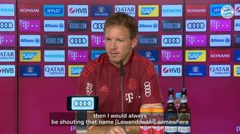 Nagelsmann spoke about Lewandowski. DUGOUT
