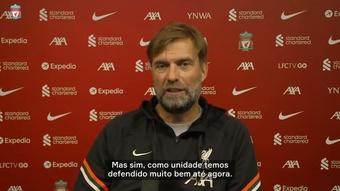 Klopp destaca Alisson e exalta sistema defensivo do Liverpool.