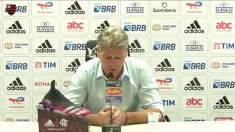 Renato Gaúcho fala da melhora de Michael e Vitinho.