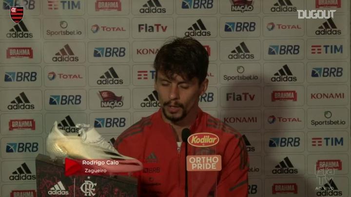 Rodrigo Caio concedeu entrevista após goleada sobre o Madureira. DUGOUT