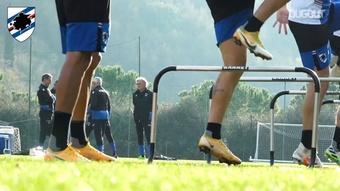 La ripresa degli allenamenti della Samp. Dugout