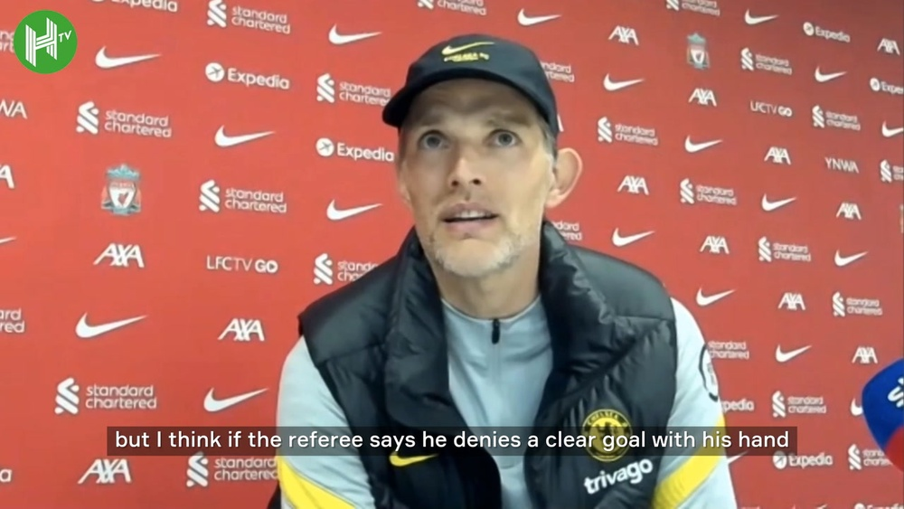 Thomas Tuchel spoke after Chelsea's 1-1 draw at Liverpool. DUGOUT