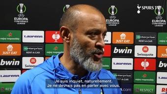 Nuno Espirito Santo revient sur le match nul entre Rennes et Tottenham. Dugout