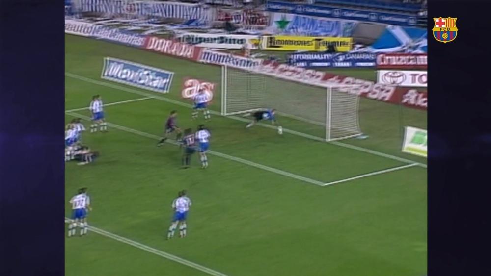 VÍDEO: el golazo de chilena de Puyol al Tenerife. DUGOUT