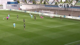 Man City beat Barnsley 4-0 in a pre-season friendly. DUGOUT